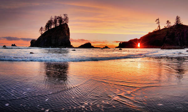 Photograph - Second Beach Sunset by Leland D Howard