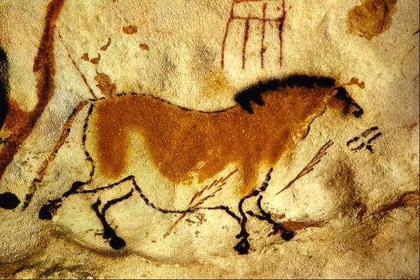 Wall Art - Painting - Second Chinese Horse by Lascaux Dordogne France