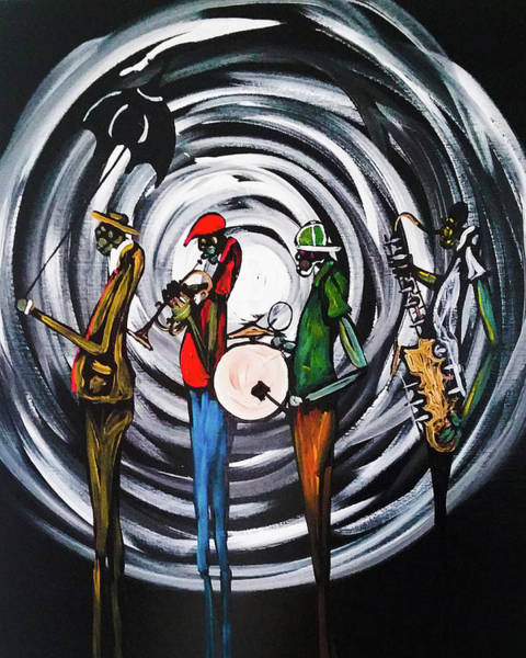 Sax Painting - Second Line 2 by Guilbeaux Gallery