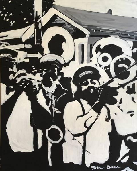 Wall Art - Painting - Second Line New Orleans by Dave Geare