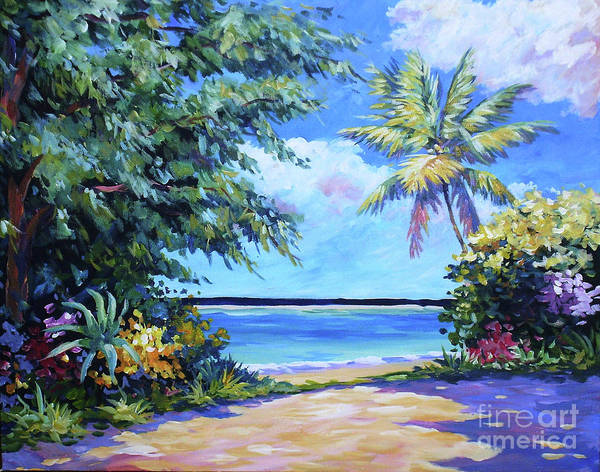 Florida Beach Painting - Secret Beach  by John Clark