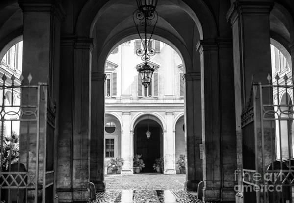 Photograph - Secret Courtyard In Rome by John Rizzuto