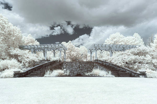 Photograph - Secret Garden Stairs Infrared by Brian Hale