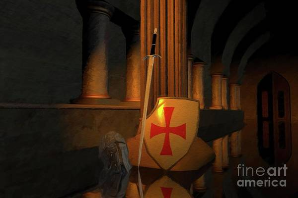 Wall Art - Painting - Secret Of The Knights Templar by Sarah Kirk