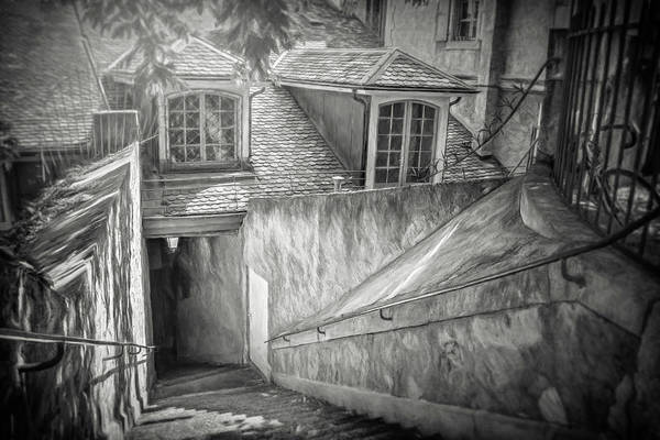Wall Art - Photograph - Secret Passage Geneva Old Town Black And White by Carol Japp