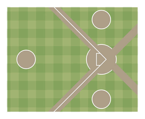 Sport Digital Art - Section Of Baseball Field With On-deck by Dorling Kindersley