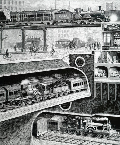 Wall Art - Photograph - Sectional View Of London S Transport by Uig