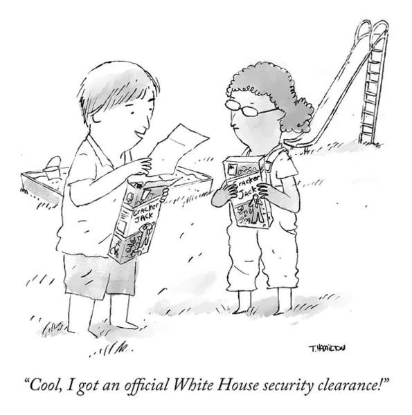 Officials Drawing - Security Clearance by Tim Hamilton