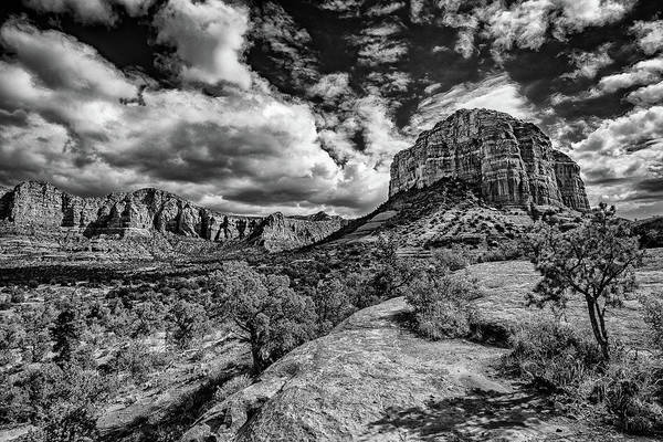 Photograph - Sedona Landscape B And W by William Christiansen