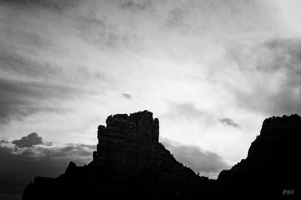 Photograph - Sedona Landscape Xxx Bw Castle Rock by David Gordon