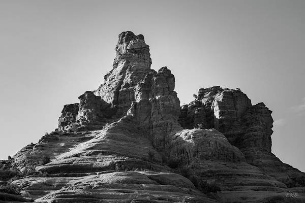 Photograph - Sedona Landscape Xxxi Bw Bell Rock by David Gordon
