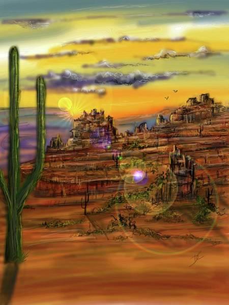 Digital Art - Sedona Red Rocks by Darren Cannell
