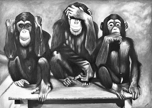 Painting - See No Evil, Hear No Evil by Francis Sampson