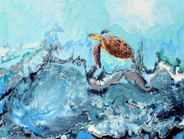 Painting - See Turtle by Joan Garcia