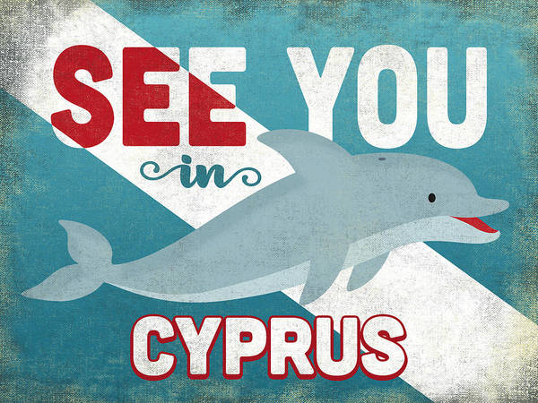 Cyprus Wall Art - Digital Art - See You In Cyprus Dolphin by Flo Karp
