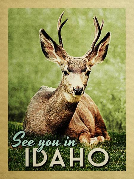 Wall Art - Digital Art - See You In Idaho Deer by Flo Karp