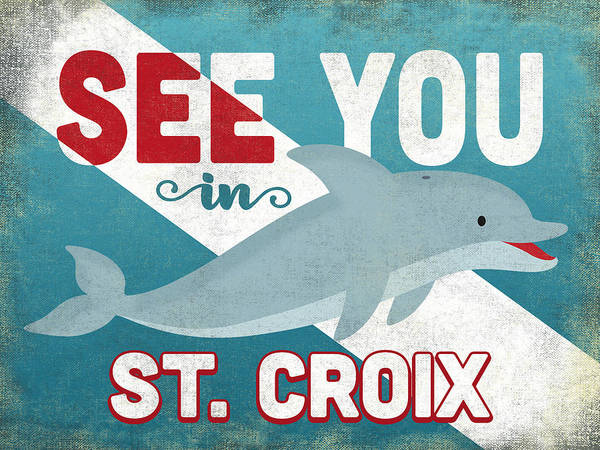 Wall Art - Digital Art - See You In St Croix Dolphin by Flo Karp