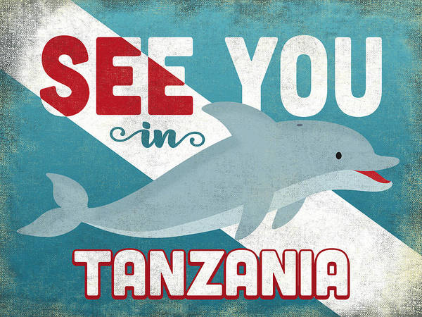 Wall Art - Digital Art - See You In Tanzania Dolphin by Flo Karp