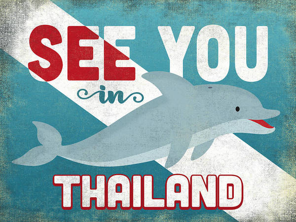 Wall Art - Digital Art - See You In Thailand Dolphin by Flo Karp