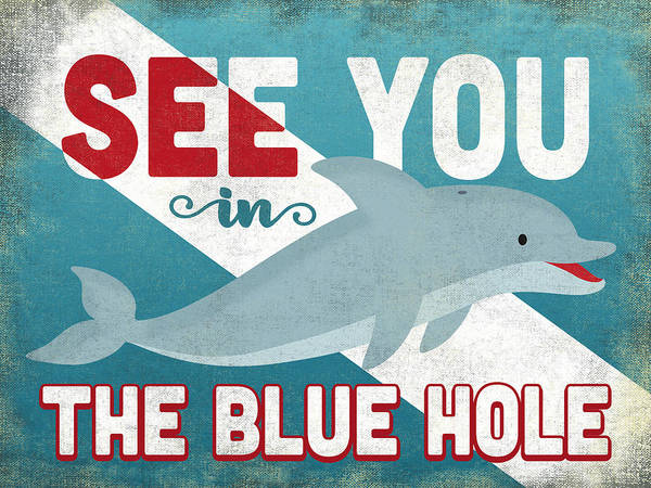 Wall Art - Digital Art - See You In The Blue Hole Dolphin by Flo Karp