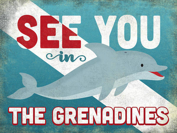 Wall Art - Digital Art - See You In The Grenadines Dolphin by Flo Karp
