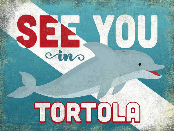 Wall Art - Digital Art - See You In Tortola Dolphin by Flo Karp