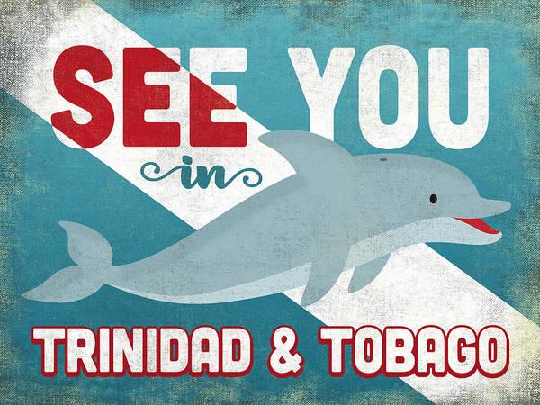 Tobago Wall Art - Digital Art - See You In Trinidad Tobago Dolphin by Flo Karp