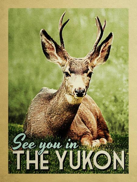 Wall Art - Digital Art - See You In Yukon Deer by Flo Karp