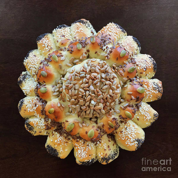 Photograph - Seeded Pull Apart Sourdough Flower 1 by Amy E Fraser