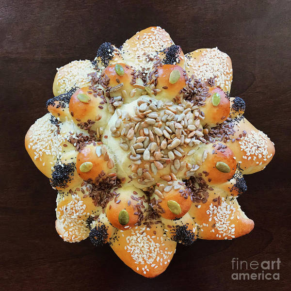 Photograph - Seeded Pull Apart Sourdough Flower 2 by Amy E Fraser
