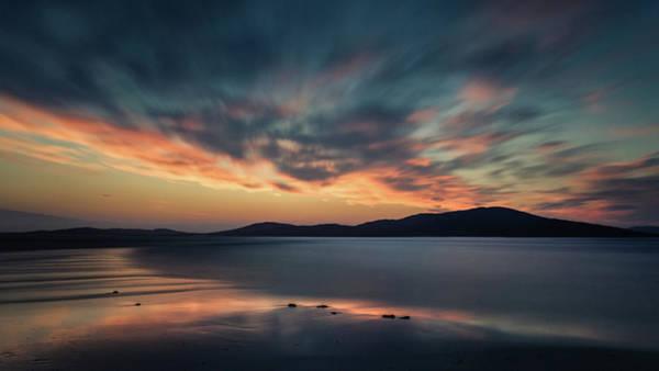 Photograph - Seilebost Sunset by Dave Bowman