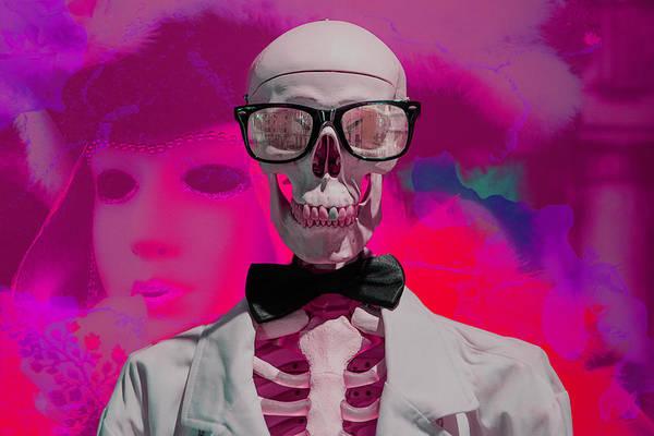 Photograph - Sekeleton In Carnival by Wolfgang Stocker