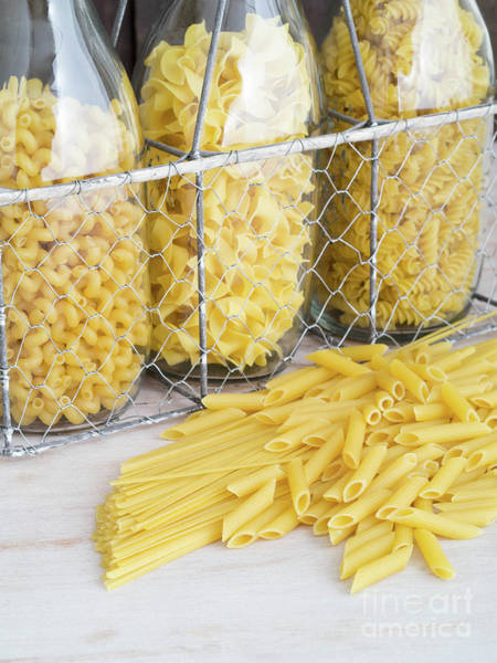 Photograph - Selection Of Dried Pasta by Edward Fielding