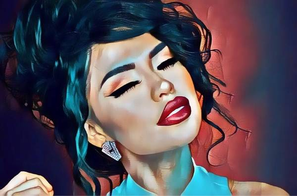 Digital Art - Selena Is Dreaming Of You by Karen Showell