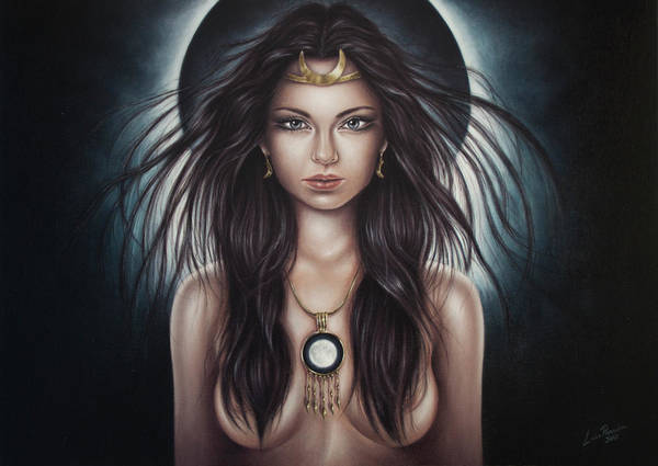 Painting - Selene by Luis Parreira