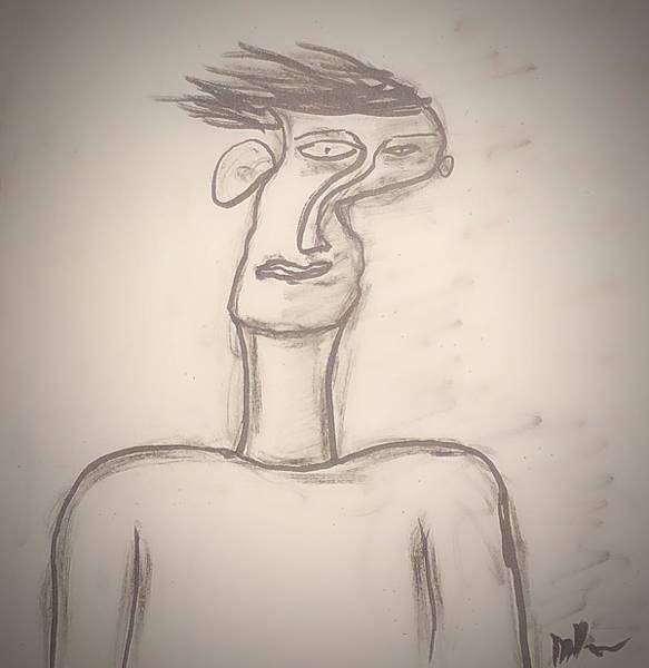 Drawing - Self-distortion by Mario MJ Perron