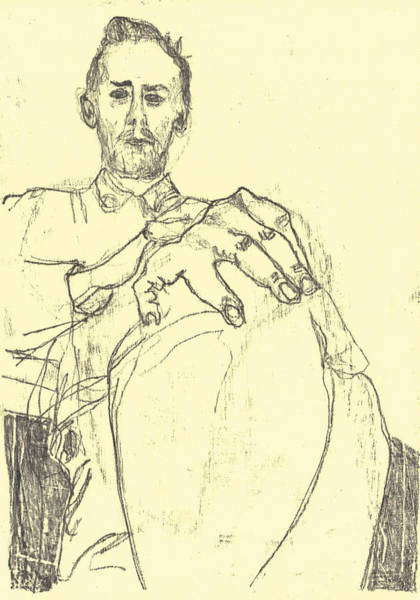 Drawing - Self Holding Knee 1 Black Oil Drawing by Artist Dot