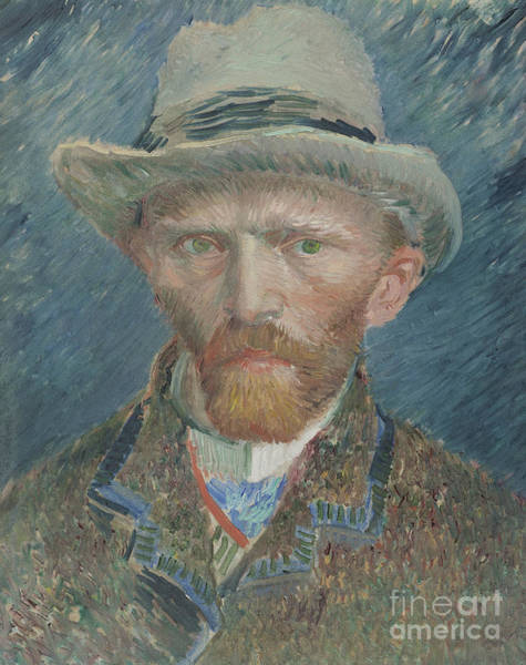 Wall Art - Painting - Self-portrait, 1887 By Van Gogh by Vincent Van Gogh