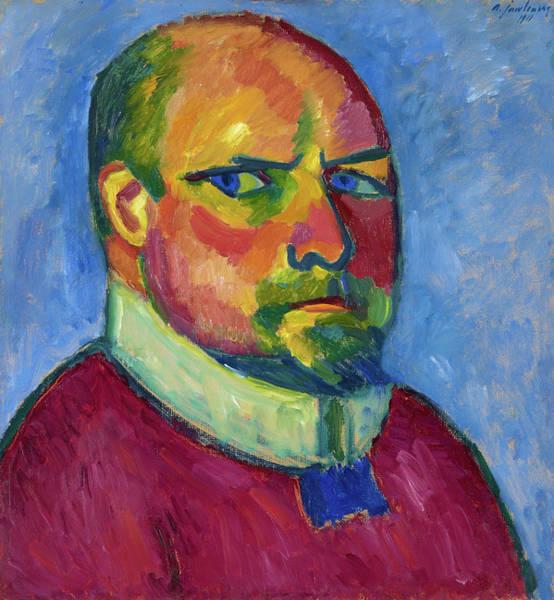 Wall Art - Painting - Self-portrait, 1911 by Alexej von Jawlensky