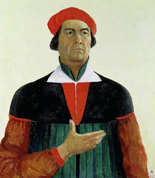 Improvisations Wall Art - Painting - Self Portrait, 1933 by Kazimir Malevich