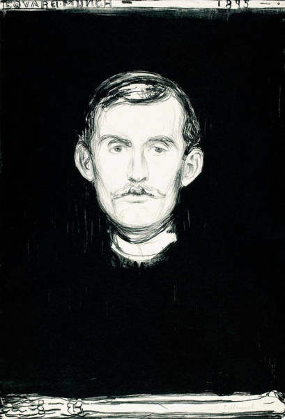 Wall Art - Painting - Self-portrait - Digital Remastered Edition by Edvard Munch