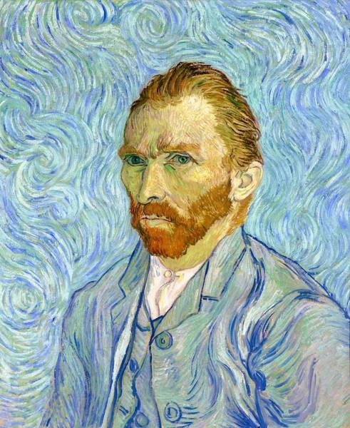 Mustache Painting - Self-portrait - Digital Remastered Edition by Vincent van Gogh