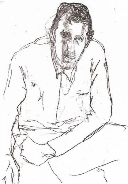 Drawing - Self-portrait Drawing Mayself by Artist Dot