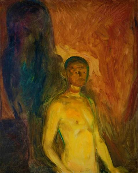 Inferno Painting - Self-portrait In Hell - Digital Remastered Edition by Edvard Munch