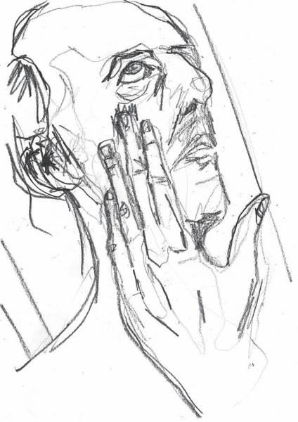 Drawing - Self-portrait Pencil Reach 10 by Artist Dot