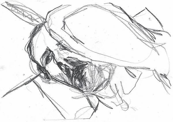 Drawing - Self-portrait Pencil Reach 5 by Artist Dot