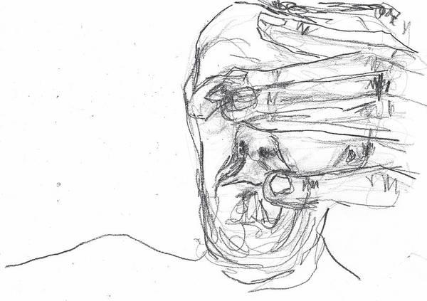 Drawing - Self-portrait Pencil Reach 9 by Artist Dot