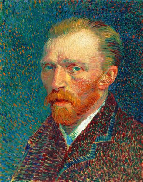 Mustache Painting - Self-portrait, Spring - Digital Remastered Edition by Vincent van Gogh