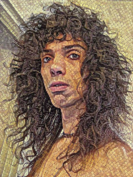 Mixed Media - Self Portrait - The Shawn Mosaic - 80s Glam Rock by Shawn Dall