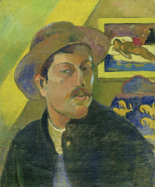 Wall Art - Painting - Self-portrait With A Hat - Digital Remastered Edition by Paul Gauguin